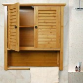 Functional bamboo bathroom cabinets