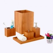 Spa Bamboo Bath Accessory Set