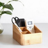 Bamboo Stationery Organizer and Letter Holder