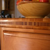 Cross Vertical Bamboo Panel for Kitchen Counter tops and Cabinet tops
