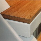 Cross Vertical Bamboo Board for Steps and Stairs