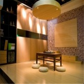 Bamboo Veneers used in Villa Decoration