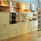 Natural color bamboo panel and Veneers used in Kitchen