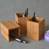 Bamboo Pen Holder, Pencil Box