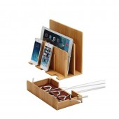 Multifunctional Desktop Organizer made of Bamboo