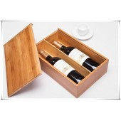 Functional Bamboo Wine Box